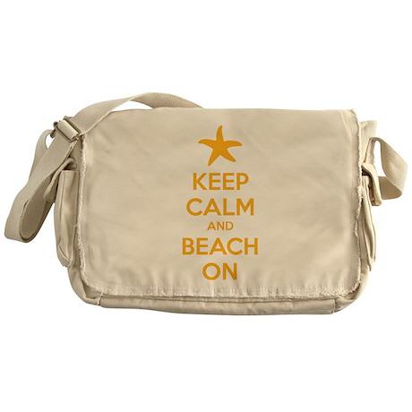 Keep calm and beach on Messenger Bag