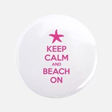 "Keep calm and beach on 3.5"" Button (100 pack)"