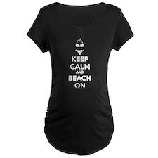 Keep calm and beach on T-Shirt