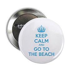 "Keep calm and go to the beach 2.25"" Button"