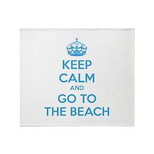 Keep calm and go to the beach Stadium Blanket