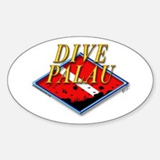 Dive Palau Oval Decal