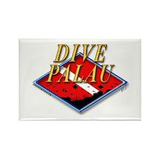 Dive Palau Rectangle Magnet