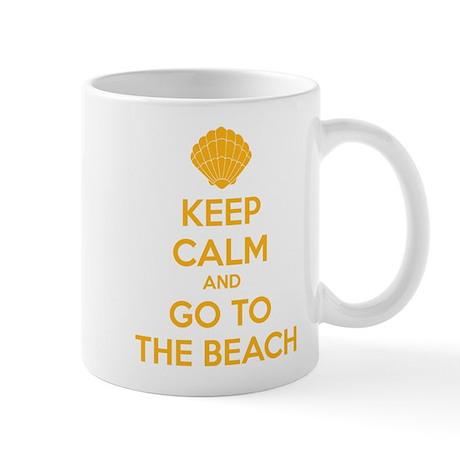 Keep calm and go to the beach Mug