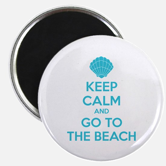 """Keep calm and go to the beach 2.25"""" Magnet (10 pac"""