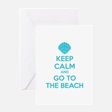 Keep calm and go to the beach Greeting Card