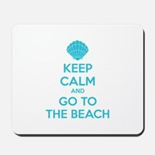 Keep calm and go to the beach Mousepad