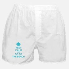 Keep calm and go to the beach Boxer Shorts