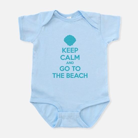 Keep calm and go to the beach Infant Bodysuit