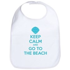 Keep calm and go to the beach Bib