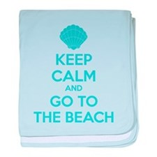 Keep calm and go to the beach baby blanket