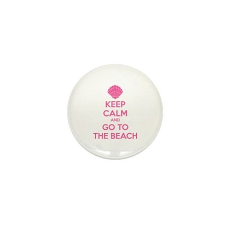 Keep calm and go to the beach Mini Button (10 pack