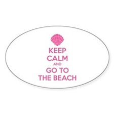 Keep calm and go to the beach Decal