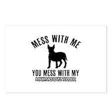 Miniature Bull Terrier owner designs Postcards (Pa