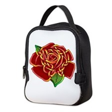 Rose Neoprene Lunch Bag