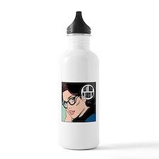 Retro Librarian Humor Water Bottle