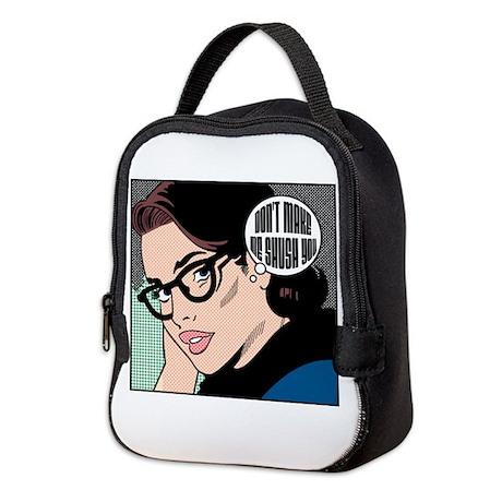 Retro Librarian Humor Neoprene Lunch Bag