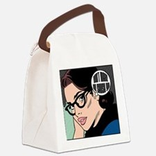 Retro Librarian Humor Canvas Lunch Bag
