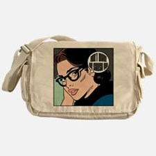 Retro Librarian Humor Messenger Bag
