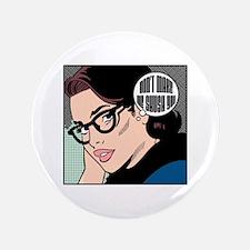 "Retro Librarian Humor 3.5"" Button"