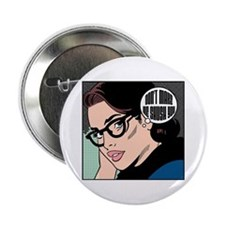 "Retro Librarian Humor 2.25"" Button"