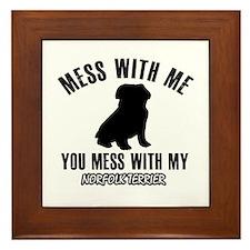 Norfolk Terrier owner designs Framed Tile