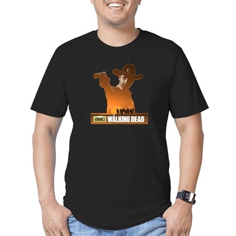 Rick Grimes Sheriff Men's Fitted T-Shirt (dark)