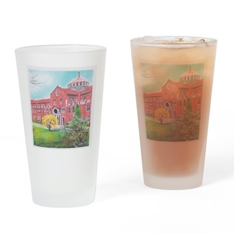 School in color Drinking Glass