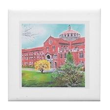School in color Tile Coaster
