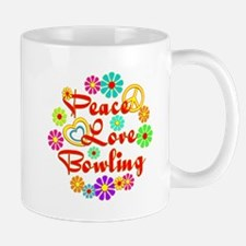 Peace Love Bowling Mug