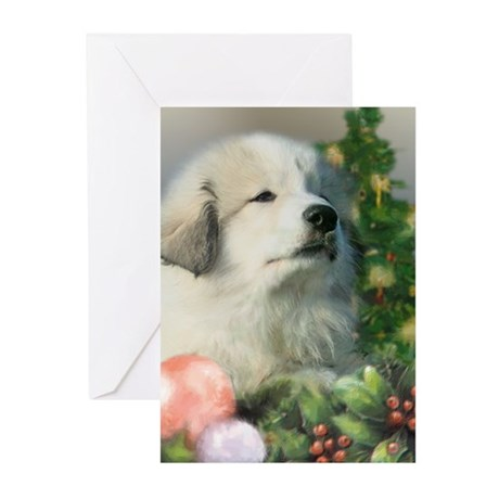 Great Pyrenees Cards,pk of 10, Puppy's Christmas
