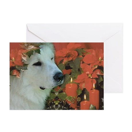 Great Pyrenees Cards,pk of 10, Henry's Christmas