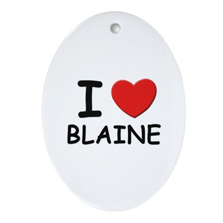 I love Blaine Oval Ornament
