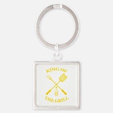 King of the grill Square Keychain