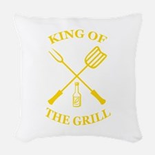 King of the grill Woven Throw Pillow