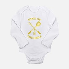 King of the grill Long Sleeve Infant Bodysuit