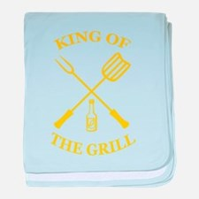 King of the grill baby blanket