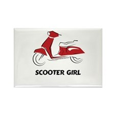 Scooter Girl (Red) Rectangle Magnet