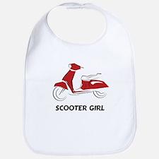 Scooter Girl (Red) Bib
