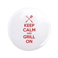 "Keep calm and grill on 3.5"" Button"