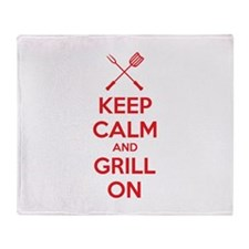 Keep calm and grill on Stadium Blanket