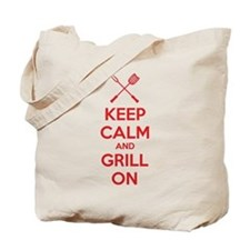 Keep calm and grill on Tote Bag