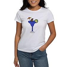 Sea Otter in Margarita Cartoon T-Shirt