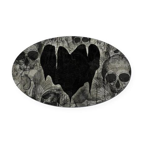 Bleak Heart Oval Car Magnet