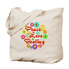 Peace Love Boating Tote Bag
