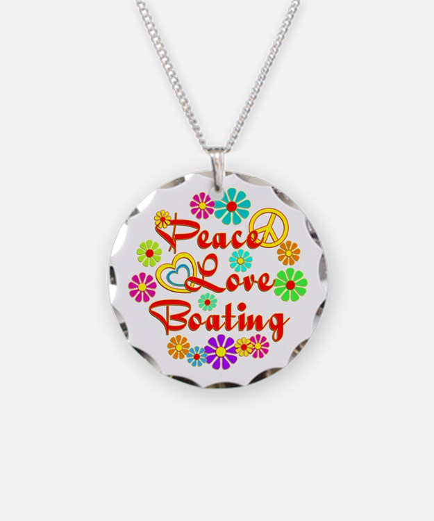 Peace Love Boating Necklace