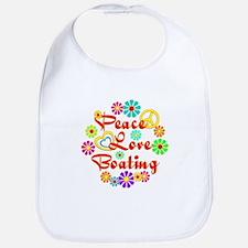 Peace Love Boating Bib