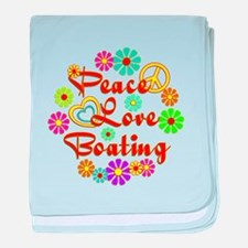 Peace Love Boating baby blanket