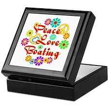 Peace Love Boating Keepsake Box