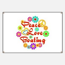 Peace Love Boating Banner